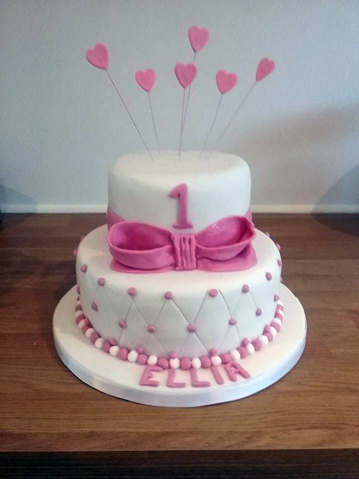 Plain With Flowers Birthday Cake